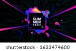 summer fest wide poster design... | Shutterstock .eps vector #1633474600