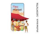 flea market cartoon smartphone...