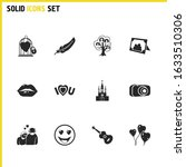 family icons set with family...