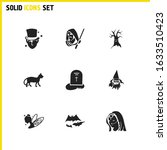 witch icons set with...