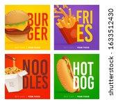social media post template on... | Shutterstock .eps vector #1633512430