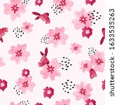 seamless pattern with pink... | Shutterstock .eps vector #1633535263