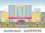 city supermarket building on...   Shutterstock .eps vector #1633559290