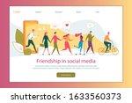 social media friends vector...