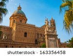 cathedral of palermo during... | Shutterstock . vector #163356458