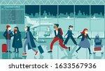 crowd of people wearing... | Shutterstock .eps vector #1633567936