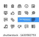 testimonials line icons set....   Shutterstock .eps vector #1633582753
