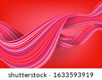 abstract coral liquid flow... | Shutterstock .eps vector #1633593919