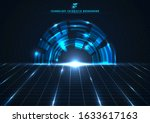 abstract technology futuristic... | Shutterstock .eps vector #1633617163