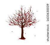 plum blossom spring flower icon.... | Shutterstock .eps vector #1633630039