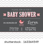 baby shower invitation | Shutterstock . vector #163364549
