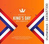 king's day celebrations design... | Shutterstock .eps vector #1633657330