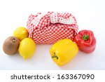 lunch box with fresh ingredient | Shutterstock . vector #163367090