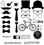 hipster style icon set | Shutterstock .eps vector #163370789