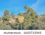 Entering National Forest Land, sign at Tonto National Forest in Gila County, Arizona USA
