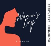 international women's day... | Shutterstock .eps vector #1633718893