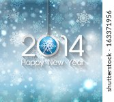 happy new year background with... | Shutterstock .eps vector #163371956
