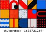 fresh vivid pattern design made ... | Shutterstock .eps vector #1633721269
