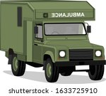 illustration of army ambulance ... | Shutterstock .eps vector #1633725910
