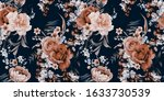 seamless floral pattern with... | Shutterstock . vector #1633730539