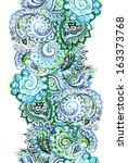 Watercolor Endless Ribbon With...