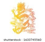 illustration myth animal dragon ... | Shutterstock .eps vector #1633745560