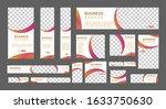 set of modern web banners of... | Shutterstock .eps vector #1633750630