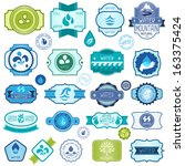 set of water labels  badges and ... | Shutterstock .eps vector #163375424