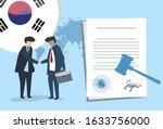 korea international partnership.... | Shutterstock .eps vector #1633756000