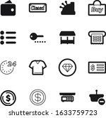 shop vector icon set such as ...