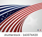 abstract background usa... | Shutterstock . vector #163376420