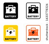 auto car battery  rechargeable... | Shutterstock .eps vector #1633778326