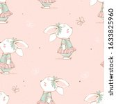 seamless pattern with cute...   Shutterstock .eps vector #1633825960