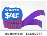 bright scarf for winter sale | Shutterstock .eps vector #163382894