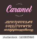caramel lettering script....   Shutterstock .eps vector #1633835860