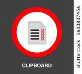 clipboard icon   vector check...   Shutterstock .eps vector #1633837456