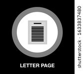 letter page. text document icon ...   Shutterstock .eps vector #1633837480