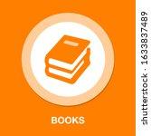 book icon  vector education...   Shutterstock .eps vector #1633837489