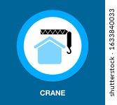 crane icon   vector...   Shutterstock .eps vector #1633840033