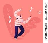 mobile music application... | Shutterstock .eps vector #1633855450
