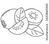 hand drawing kiwi  doodle...   Shutterstock .eps vector #1633860340