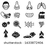 micro dust pm 2.5 icons. vector ... | Shutterstock .eps vector #1633872406