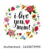 happy mothers day greeting card.... | Shutterstock . vector #1633873990