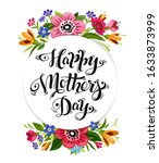 happy mothers day greeting card.... | Shutterstock . vector #1633873999