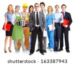 business people group isolated... | Shutterstock . vector #163387943