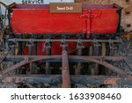 Rusted Seed Drill From The Late ...