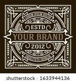 vintage luxury logo template...   Shutterstock .eps vector #1633944136