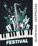 music concert poster with... | Shutterstock .eps vector #1633962166