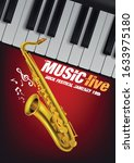 live music with saxophone... | Shutterstock .eps vector #1633975180