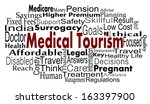 medical tourism concept with... | Shutterstock . vector #163397900